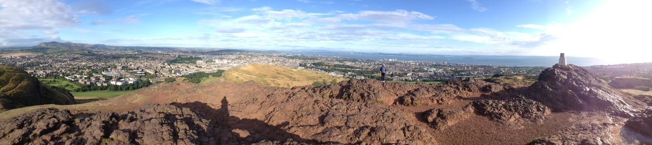 Panorama from Arthur's Seat in Edinburgh, Scotland