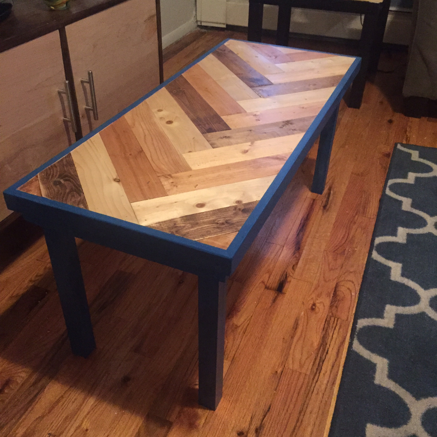 Herringbone Coffee Table – Joshua Tree Woodworks